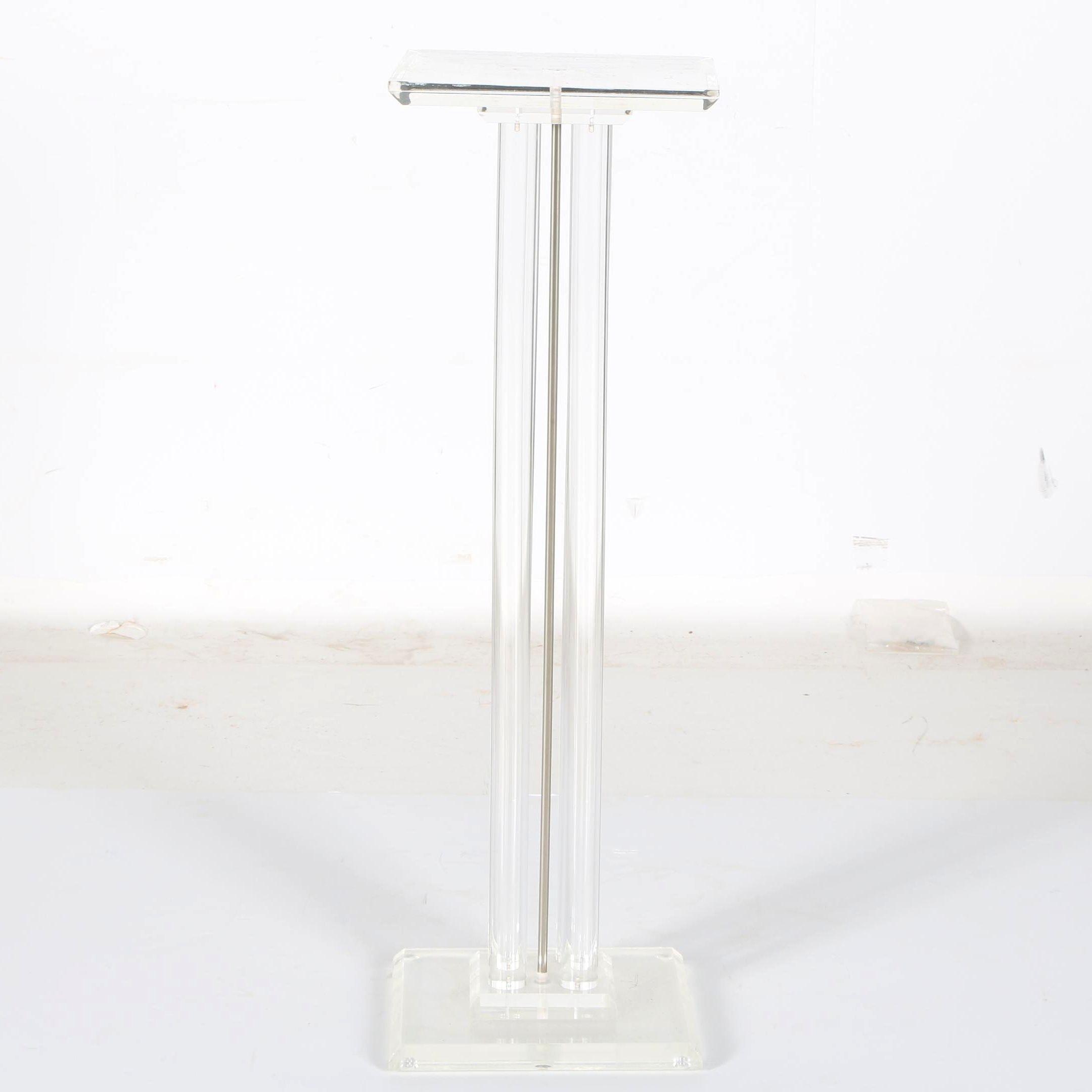 Lucite Pedestal Plant Stand