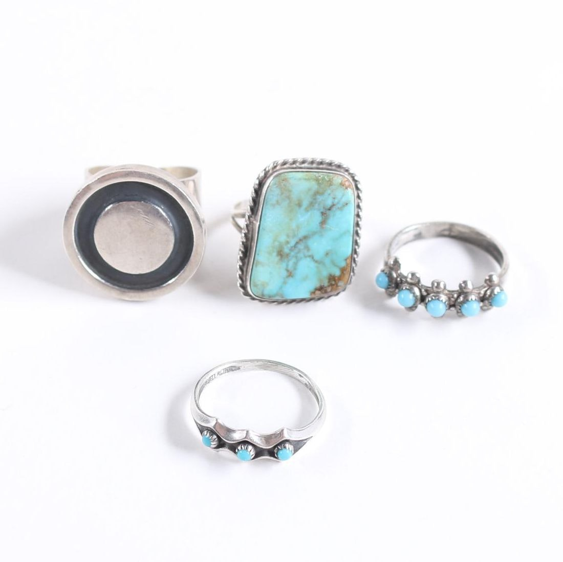 Sterling Silver Rings Including Turquoise