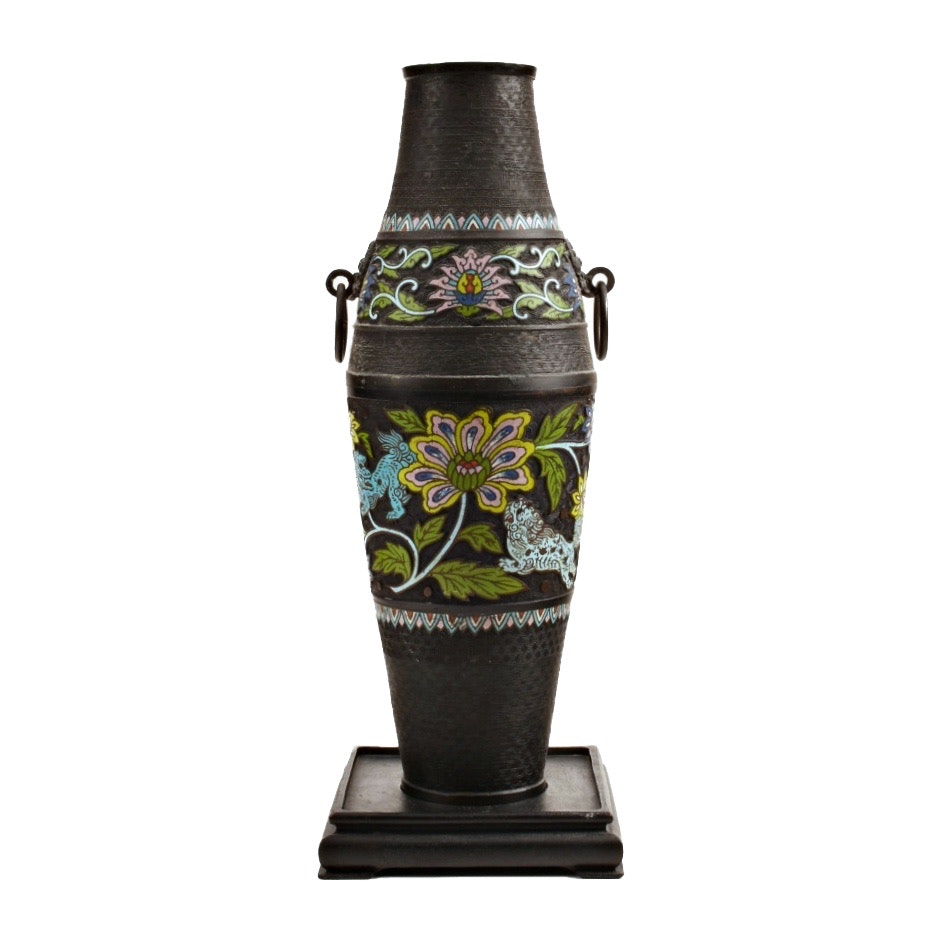 Late 19th/Early 20th Century Japanese Champleve Cloisonne Vase