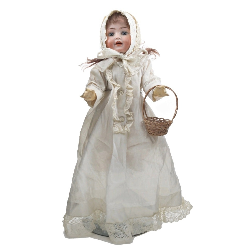 German PM Bisque Jointed Doll