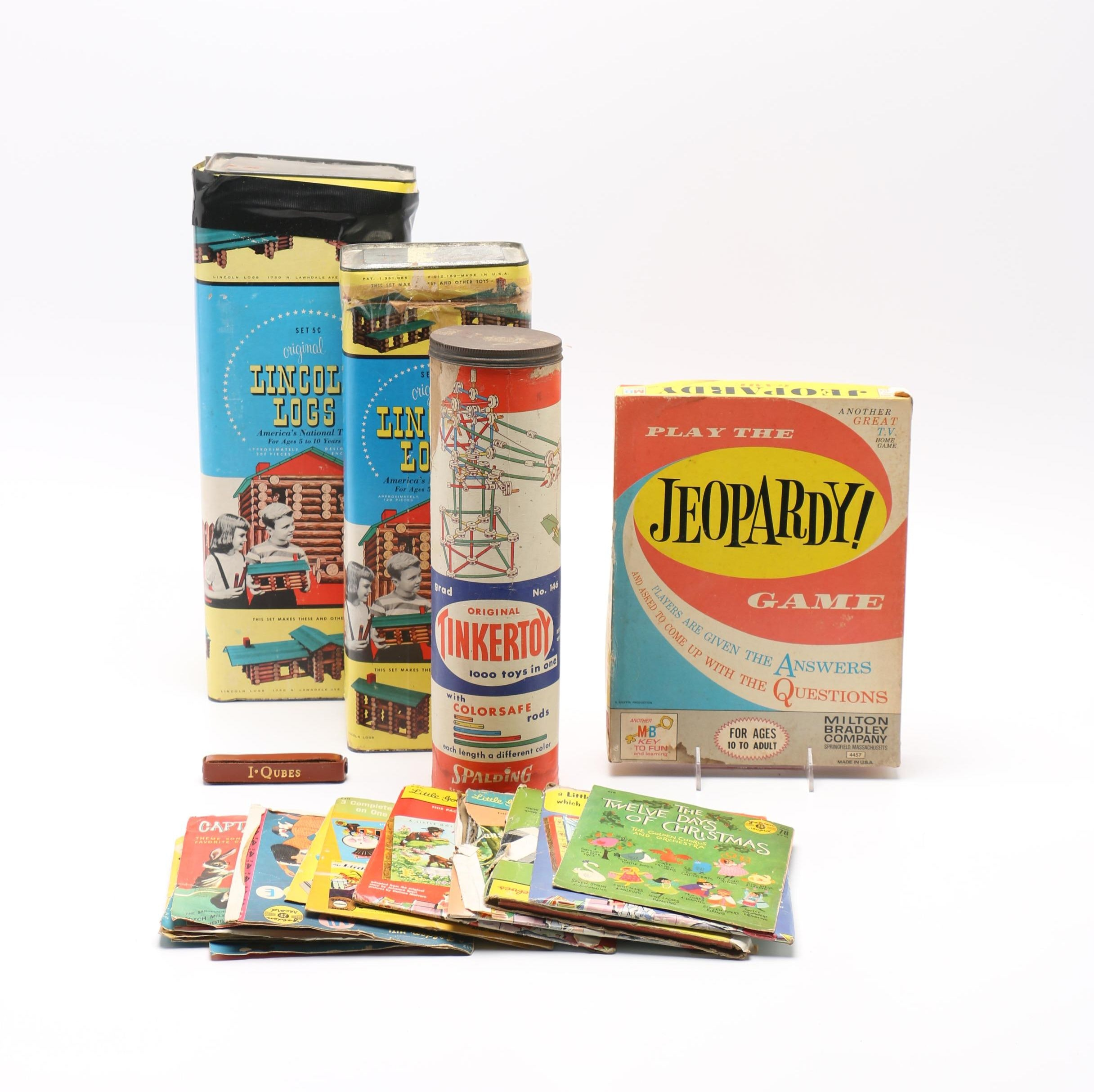 "Vintage Toys including ""Lincoln Logs"" ""Tinker Toys"" ""Jeopardy!"""