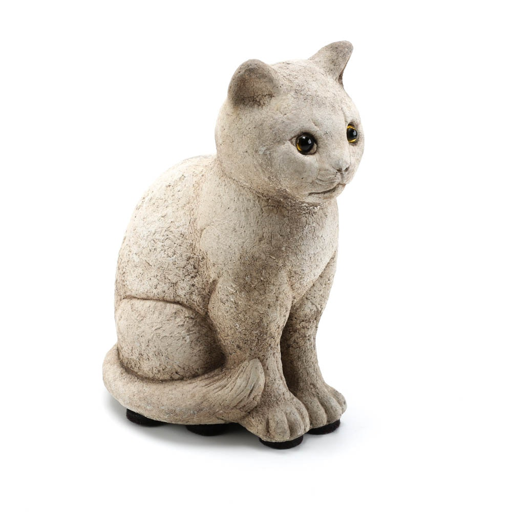 Concrete Statue of a Cat, Made in England