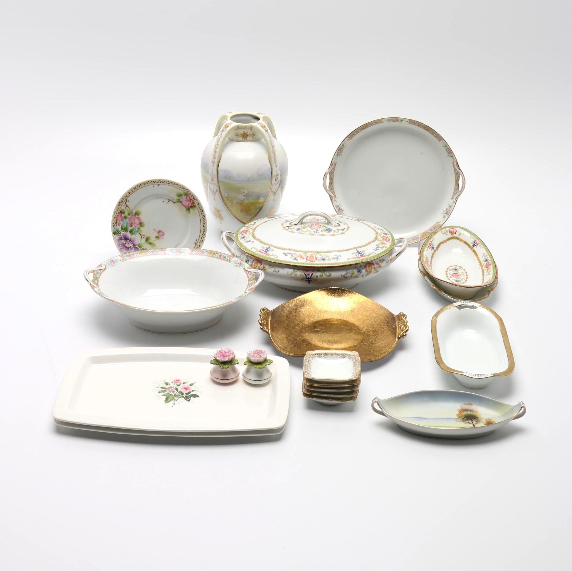 Noritake and Other Porcelain Pieces