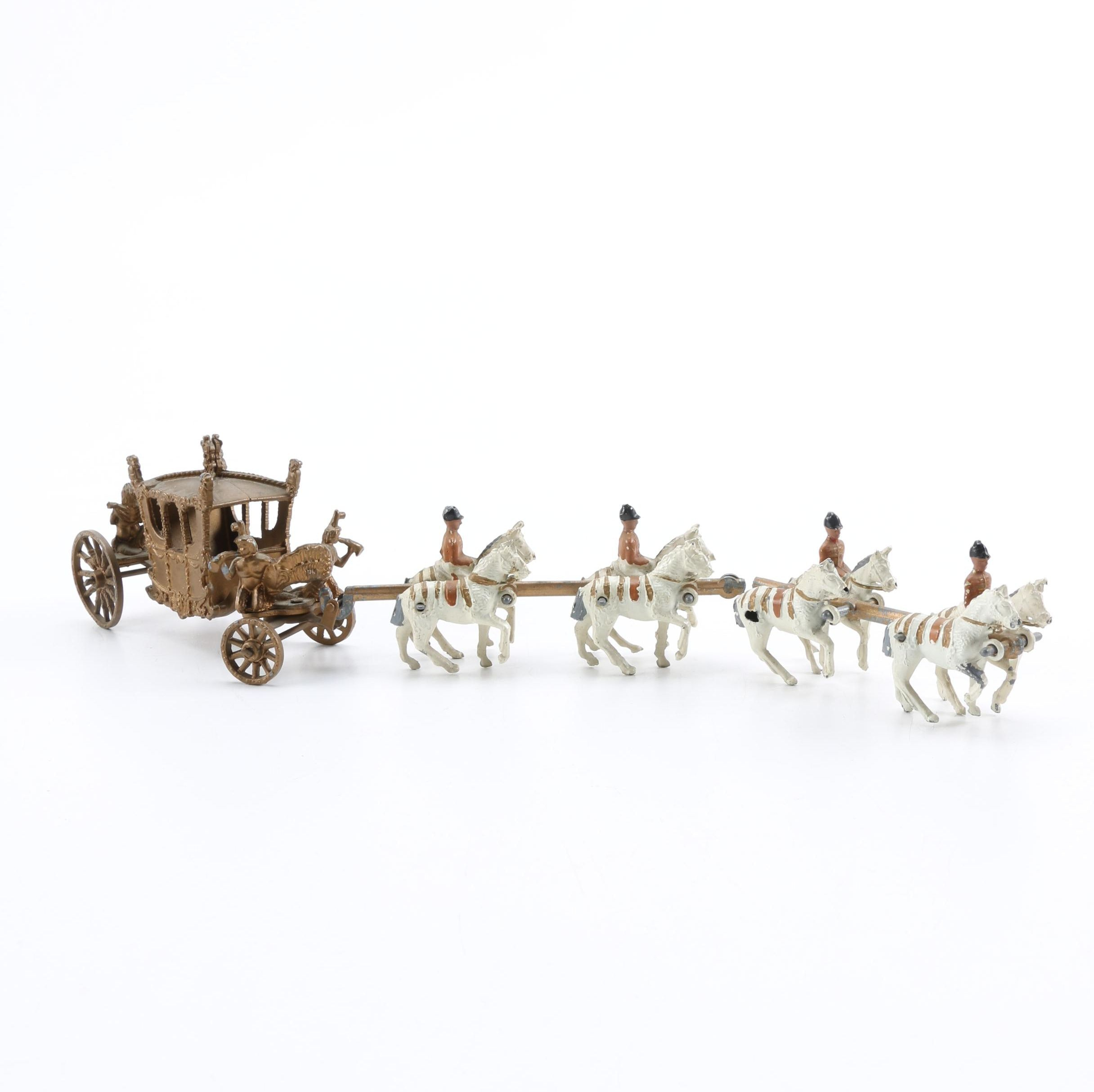 Decorative Horses And Carriage