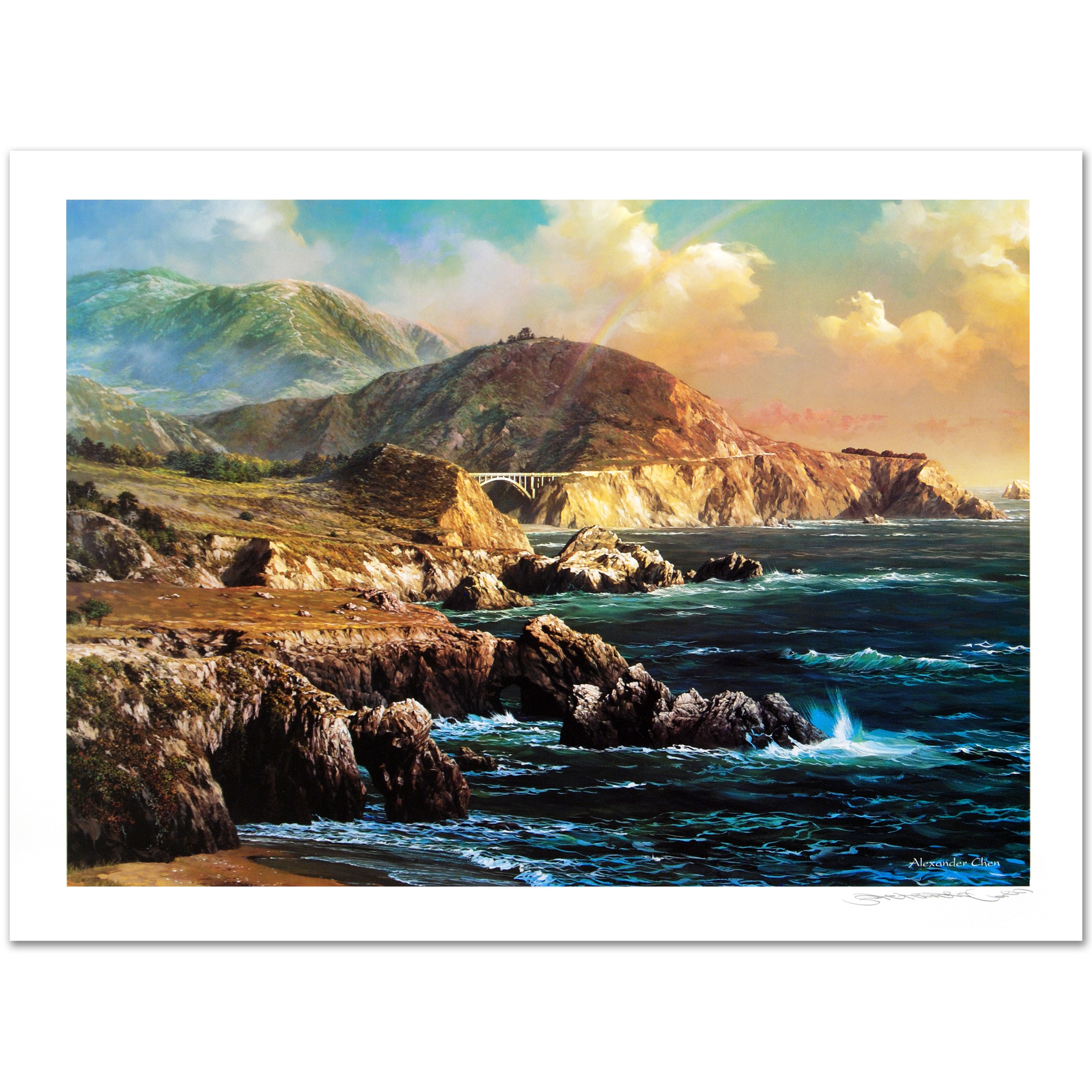 "Alexander Chen ""Big Sur"" Signed Limited Edition Offset Lithograph"