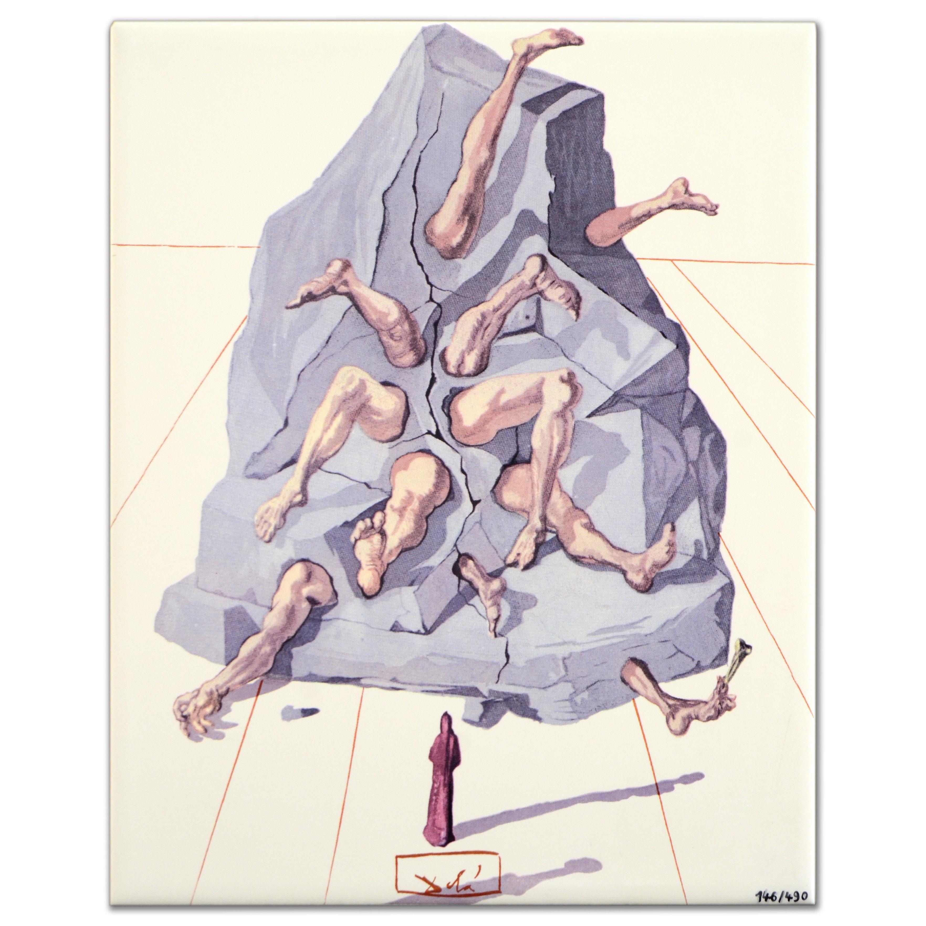 "After Salvador Dali Limited Edition Ceramic Glazed Tile ""The Simonists"""