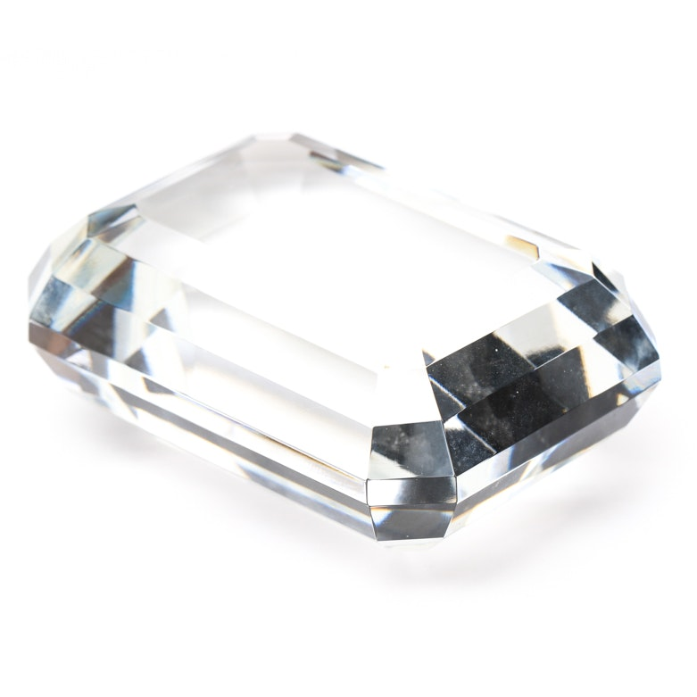Tiffany and Co Cushion Cut Paperweight