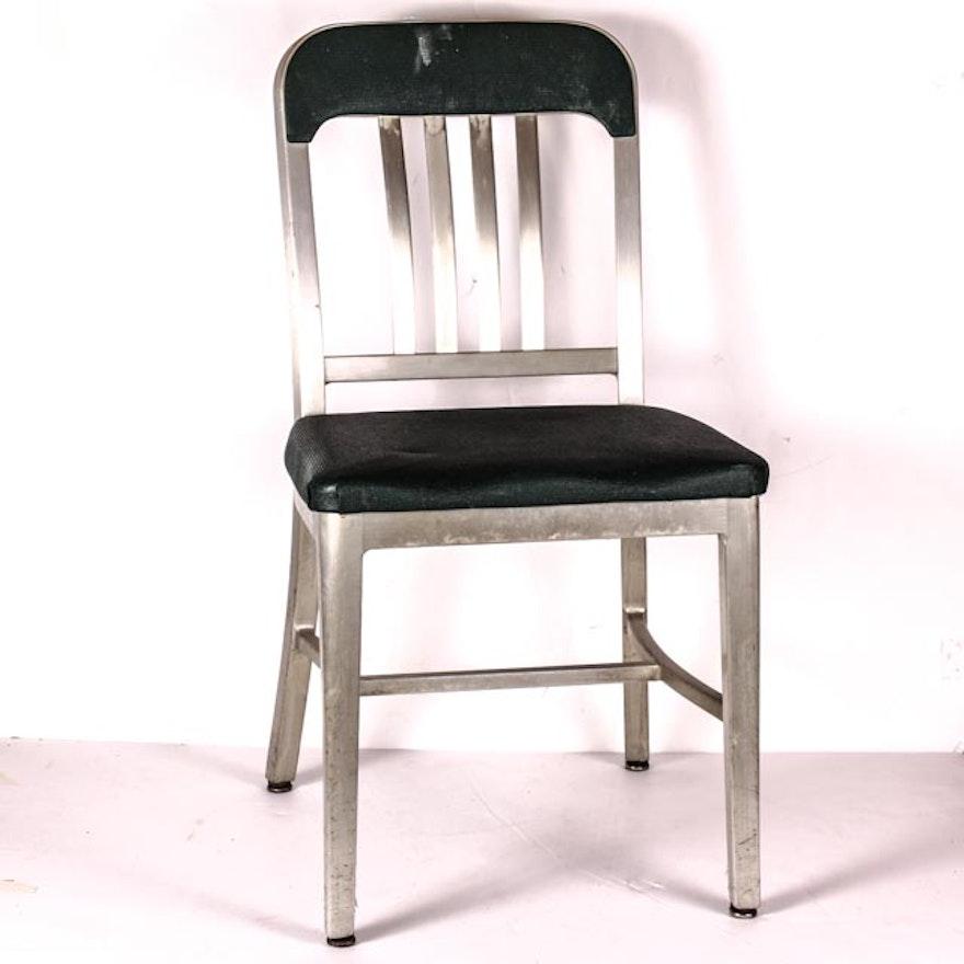 Vintage 1940s Good Form Brushed Aluminum Chair