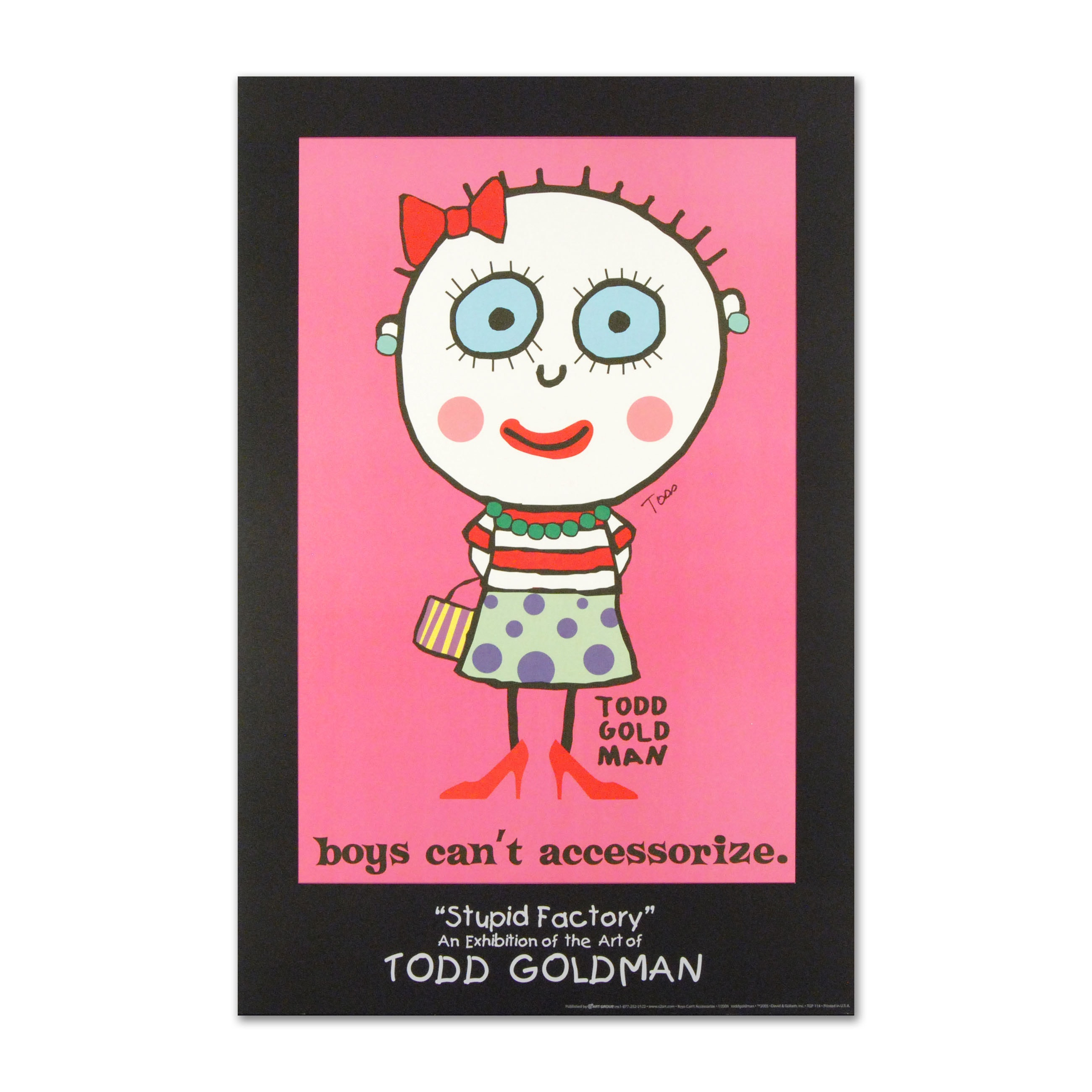 """Todd Goldman """"Boys Can't Accessorize"""" Poster"""