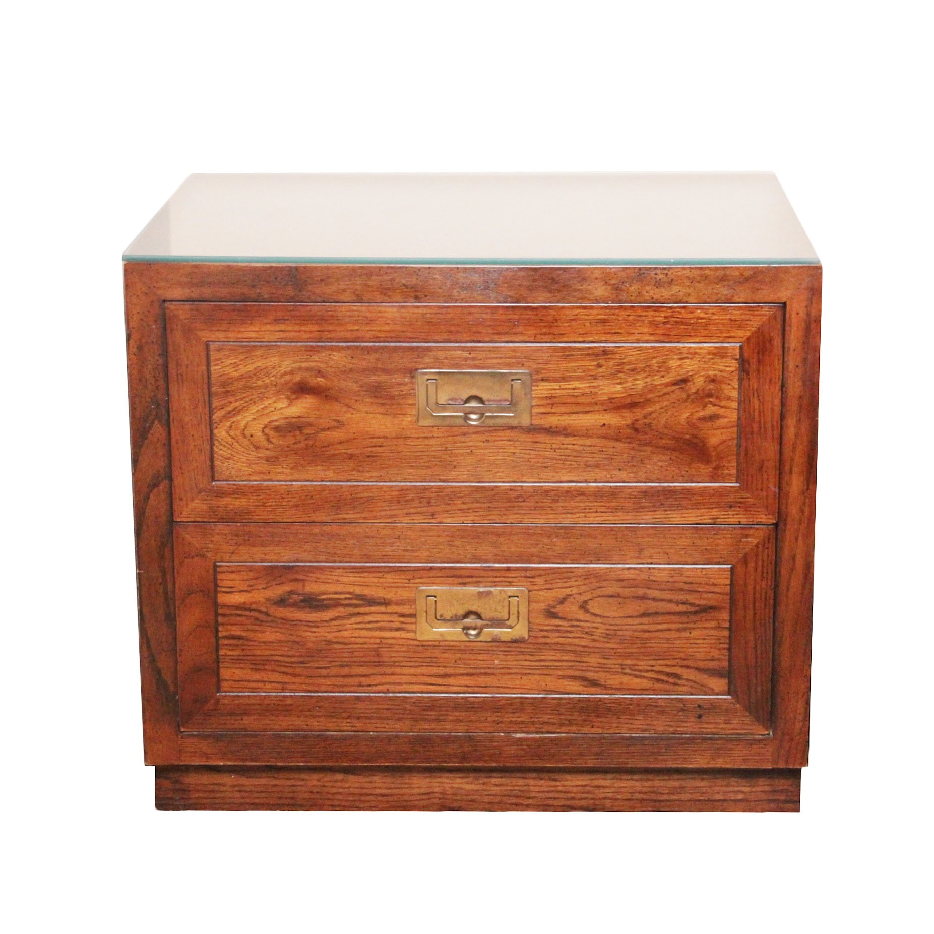 Henredon Campaign Chest Style Nightstand