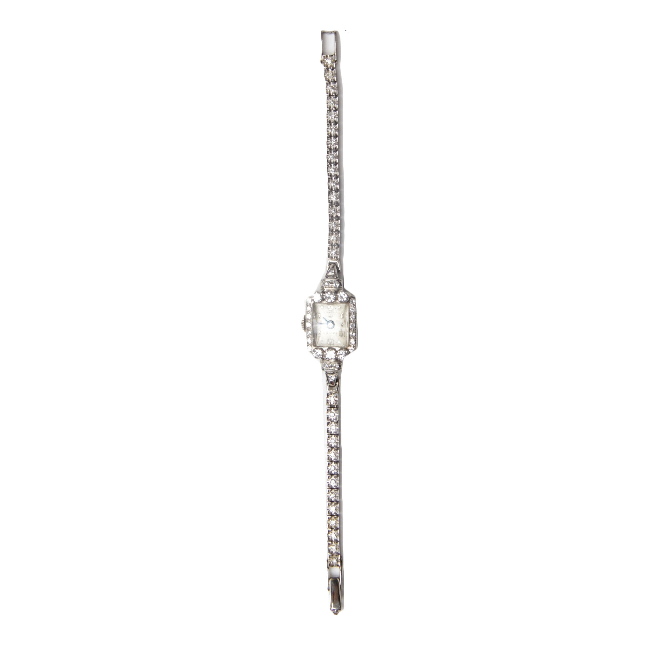 Baylor Jewels 14K White Gold and 1.00 CTW Diamond  Wristwatch