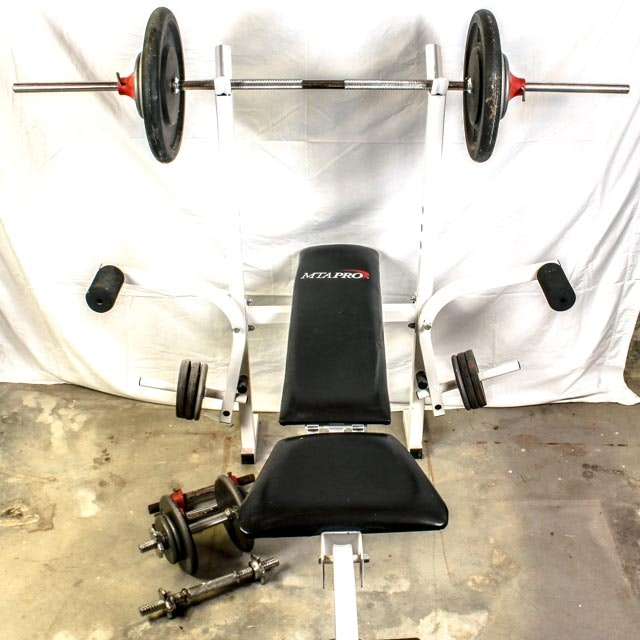 MTA Pro Weight Bench with Weights