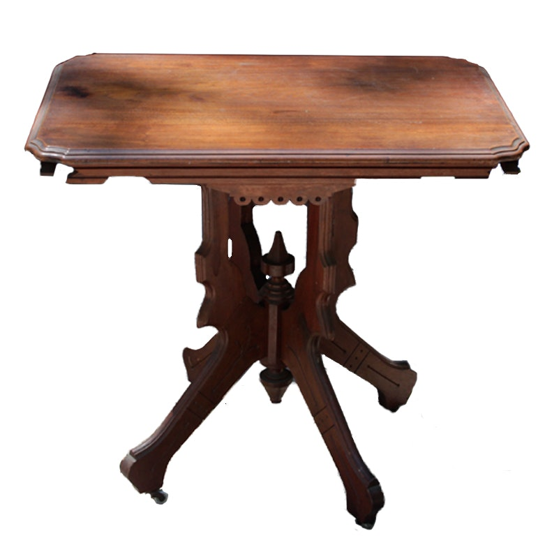 Late 19th Century Victorian Eastlake Parlor Table