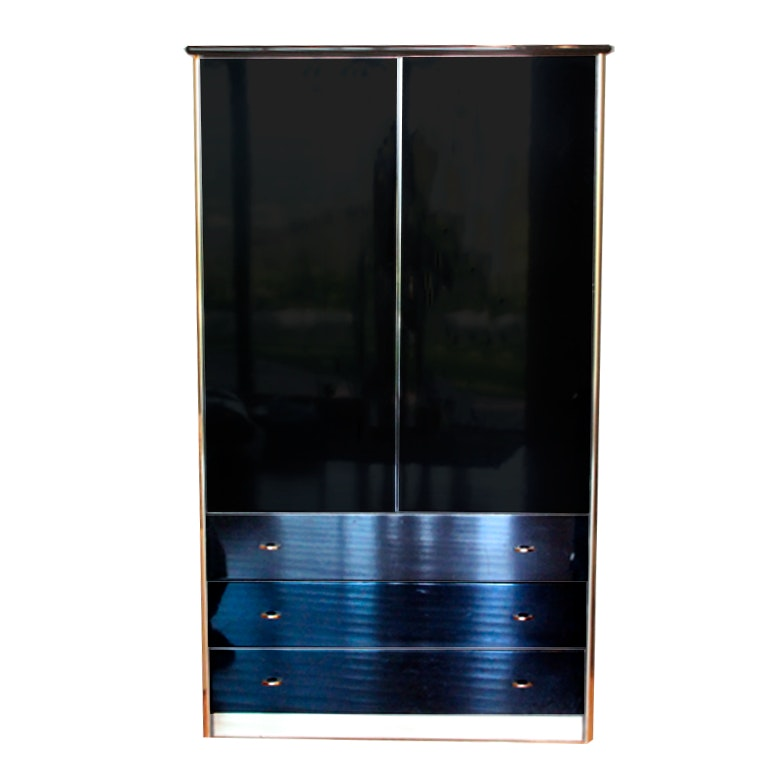 Contemporary Black Armoire