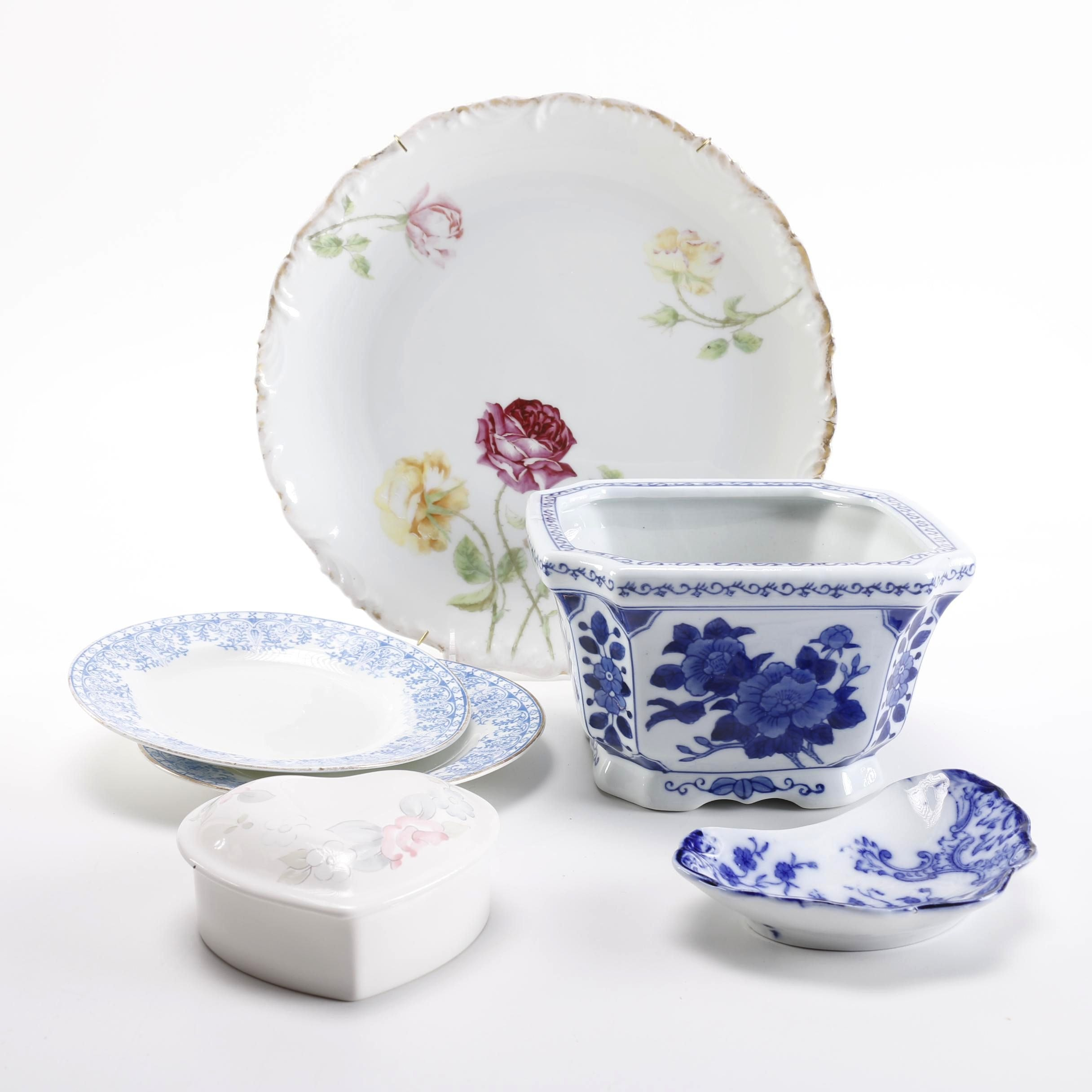 Assortment Of China Including Hand-Painted Tressemann and Vogt