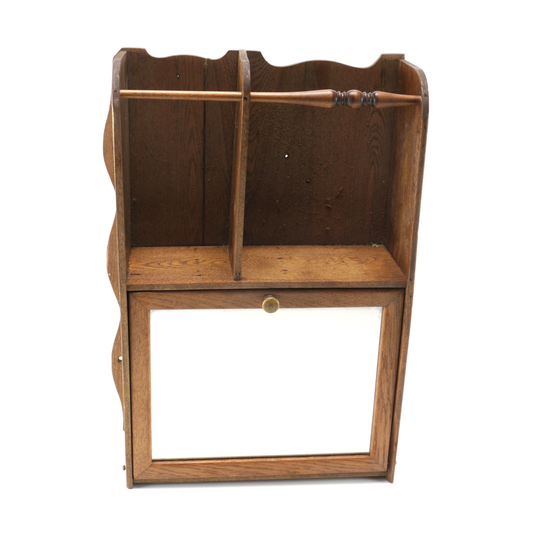 Arts and Crafts Style Wooden Wall Cabinet