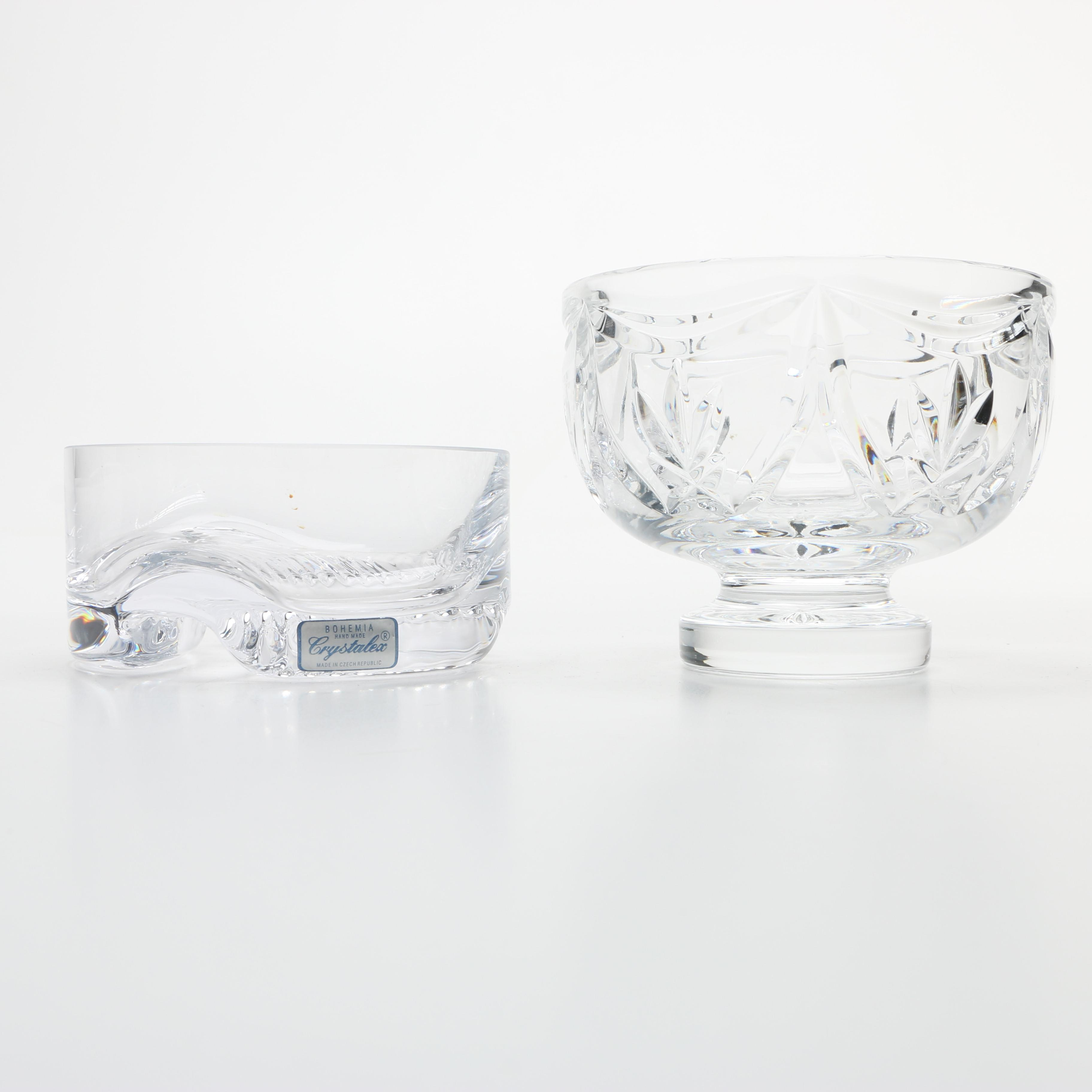 Waterford Crystal Bowl and Crystalex Wine Coaster