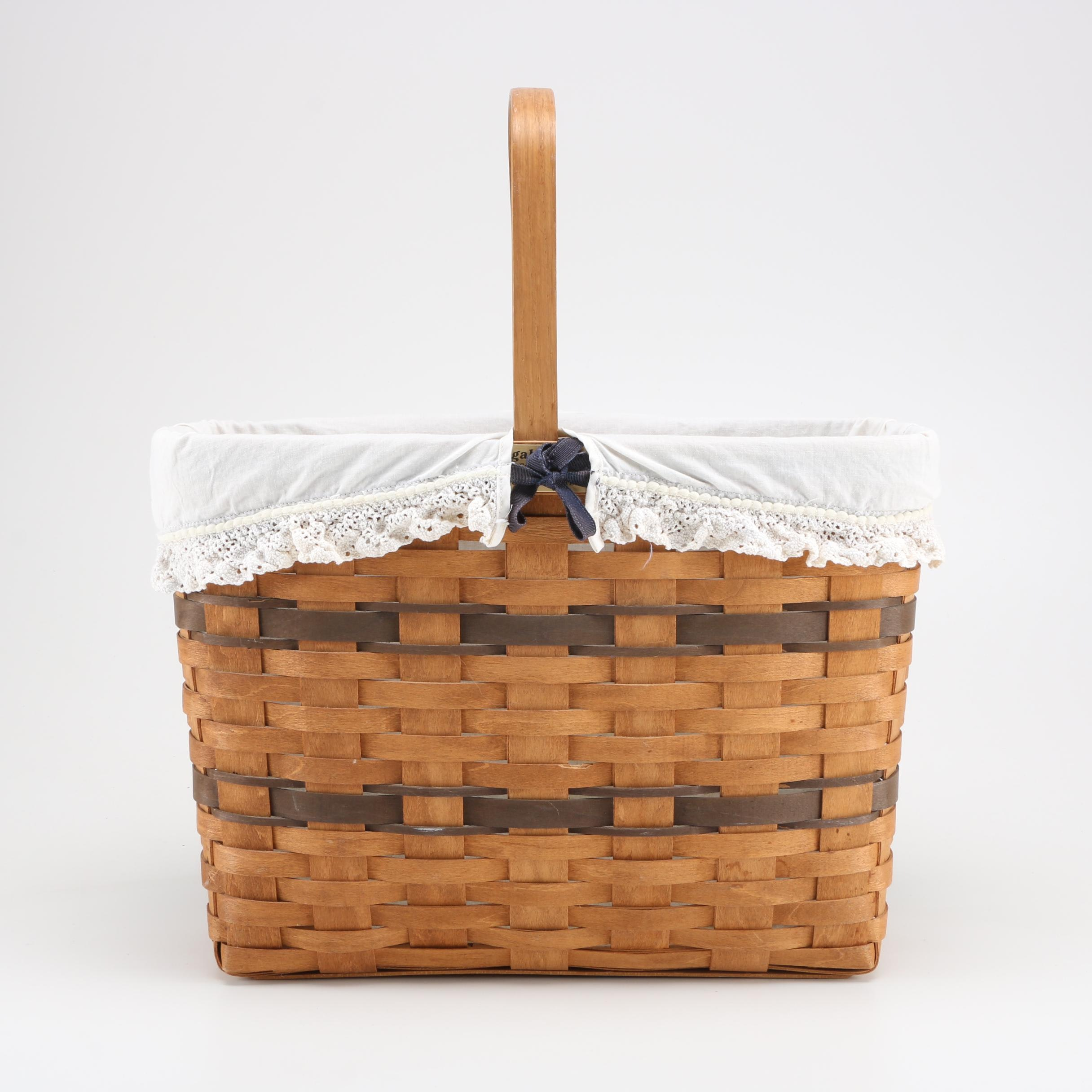"Longaberger ""Bread & Milk Basket"""