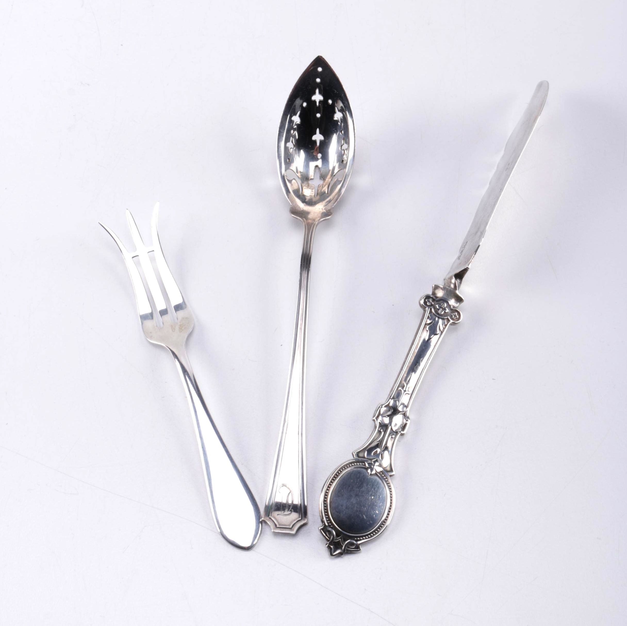Arts and Crafts Handicraft Shop Sterling Knife and Other Flatware