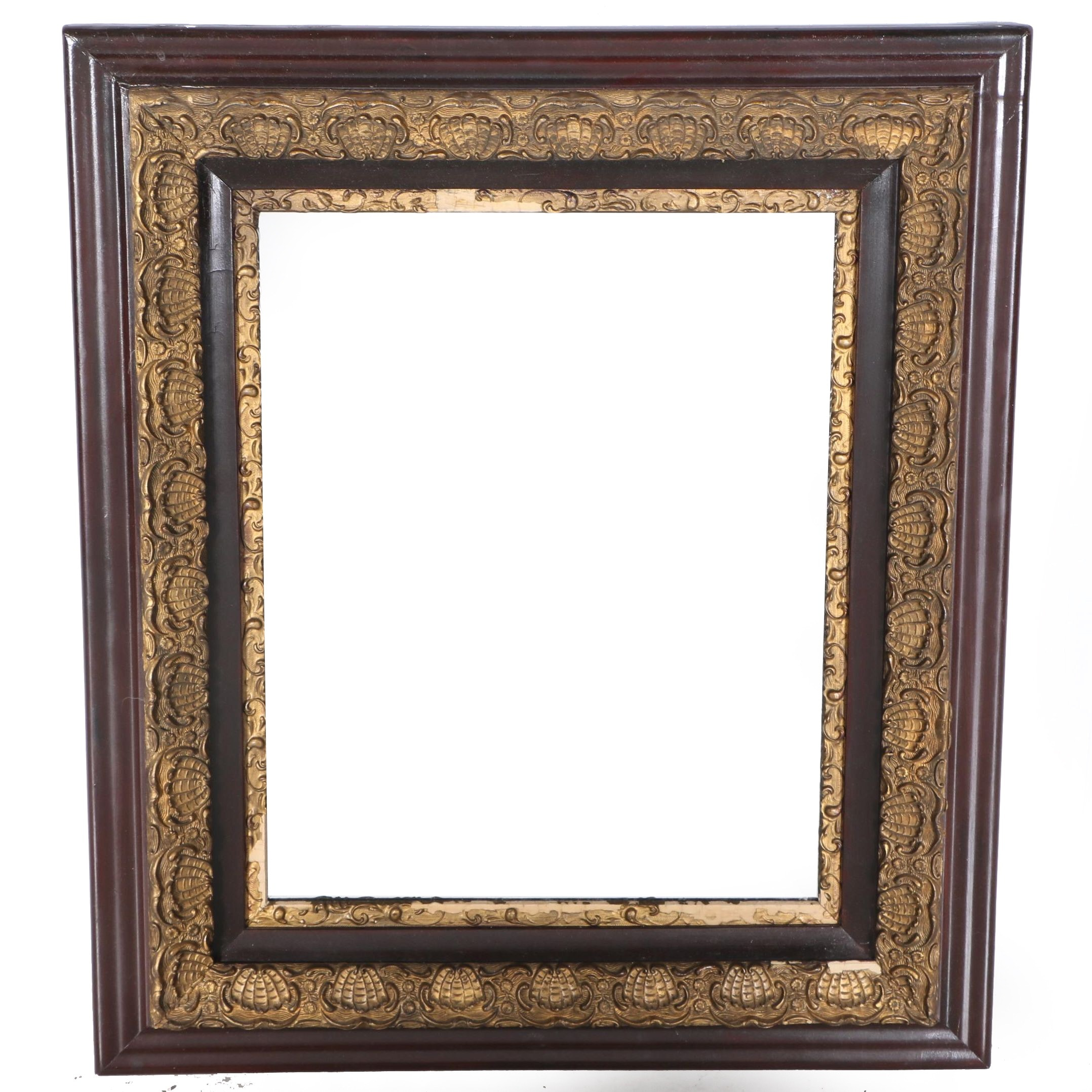 Bronze Tone and Brown Wall Mirror