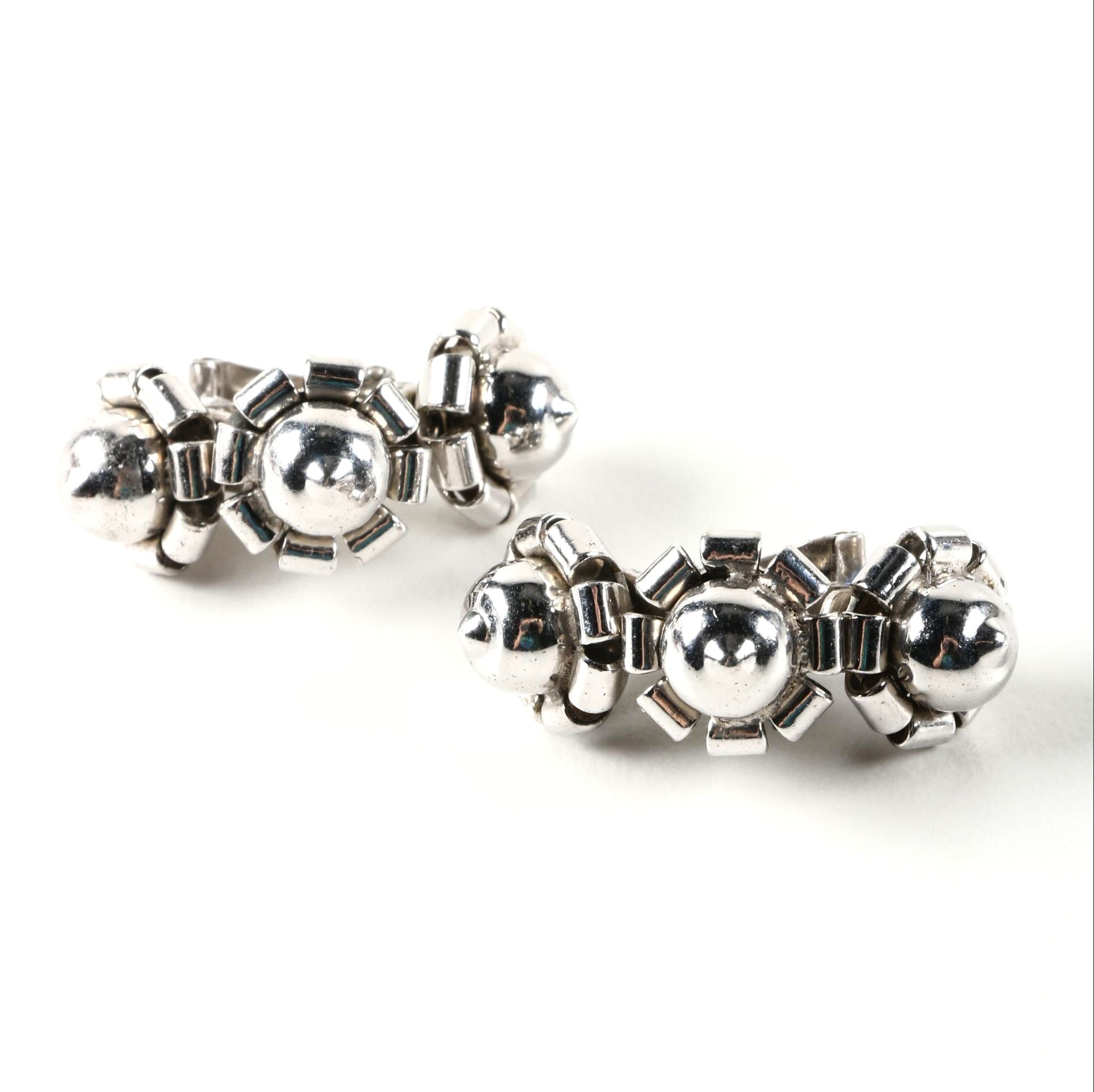 Sterling Silver Clip On Earrings by Jeray