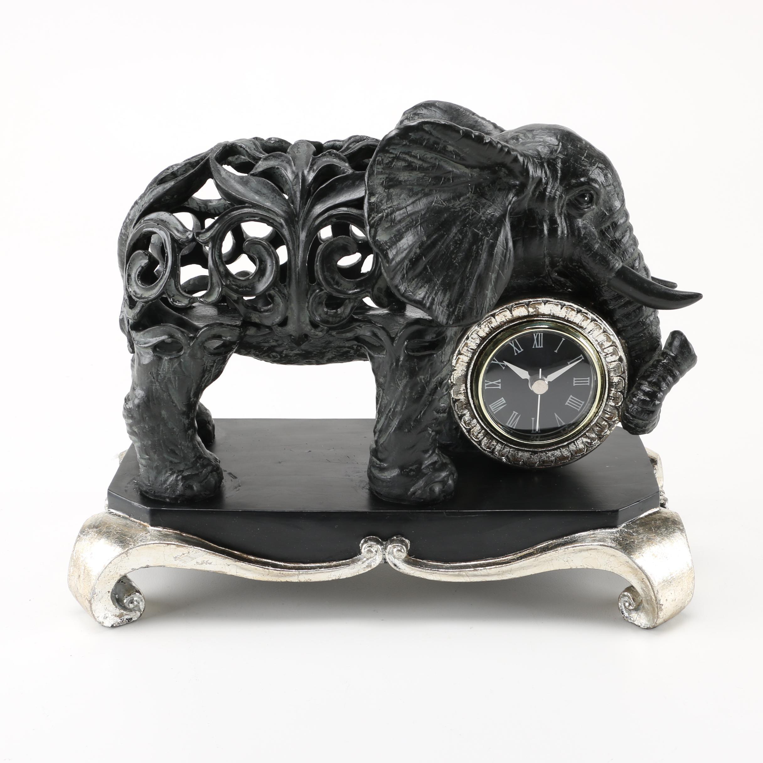 The Bombay Company Elephant Clock