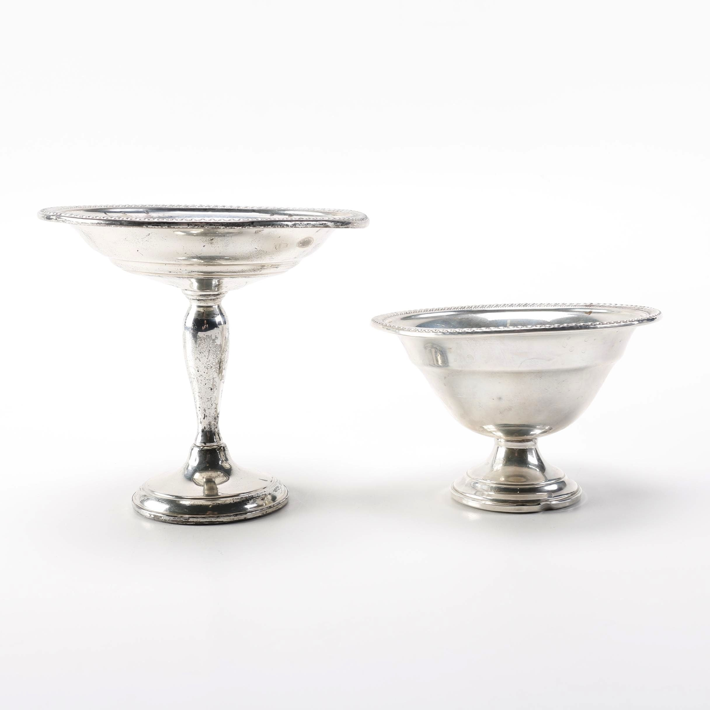 Arrowsmith Weighted Sterling Compote and Pedestal Bowl