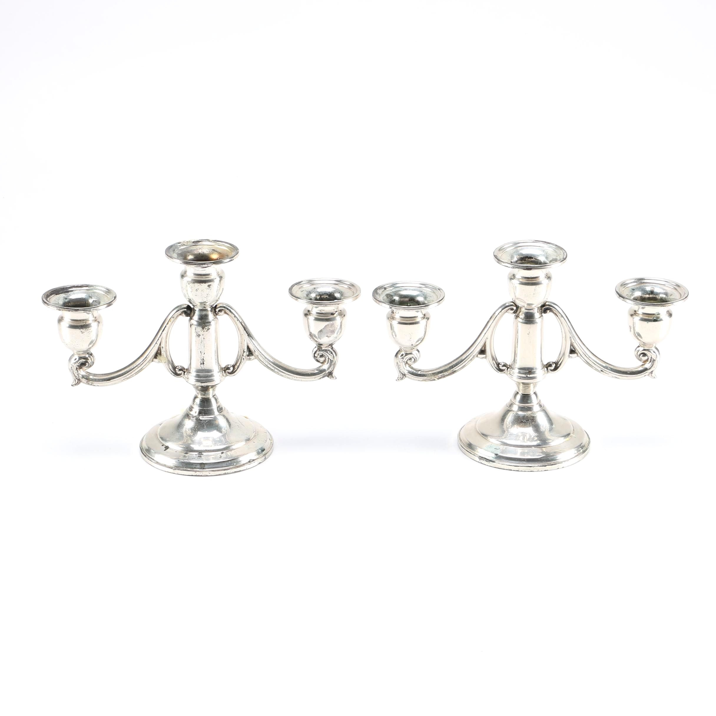 Mueck - Cary Co. Weighted Sterling Silver Candelabra