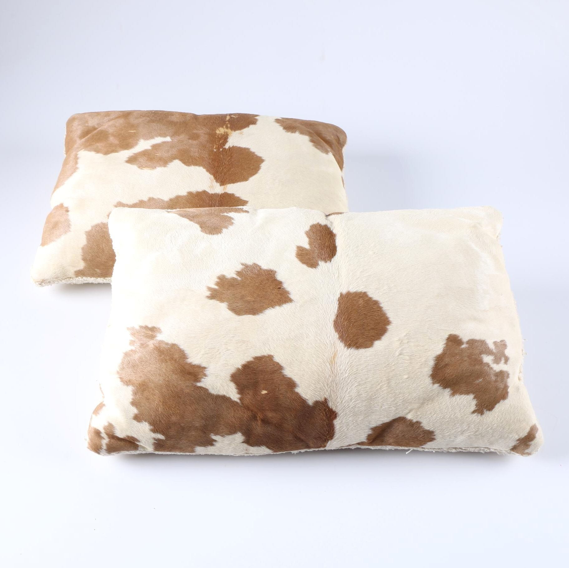 Pair of Cow Hide Pillows