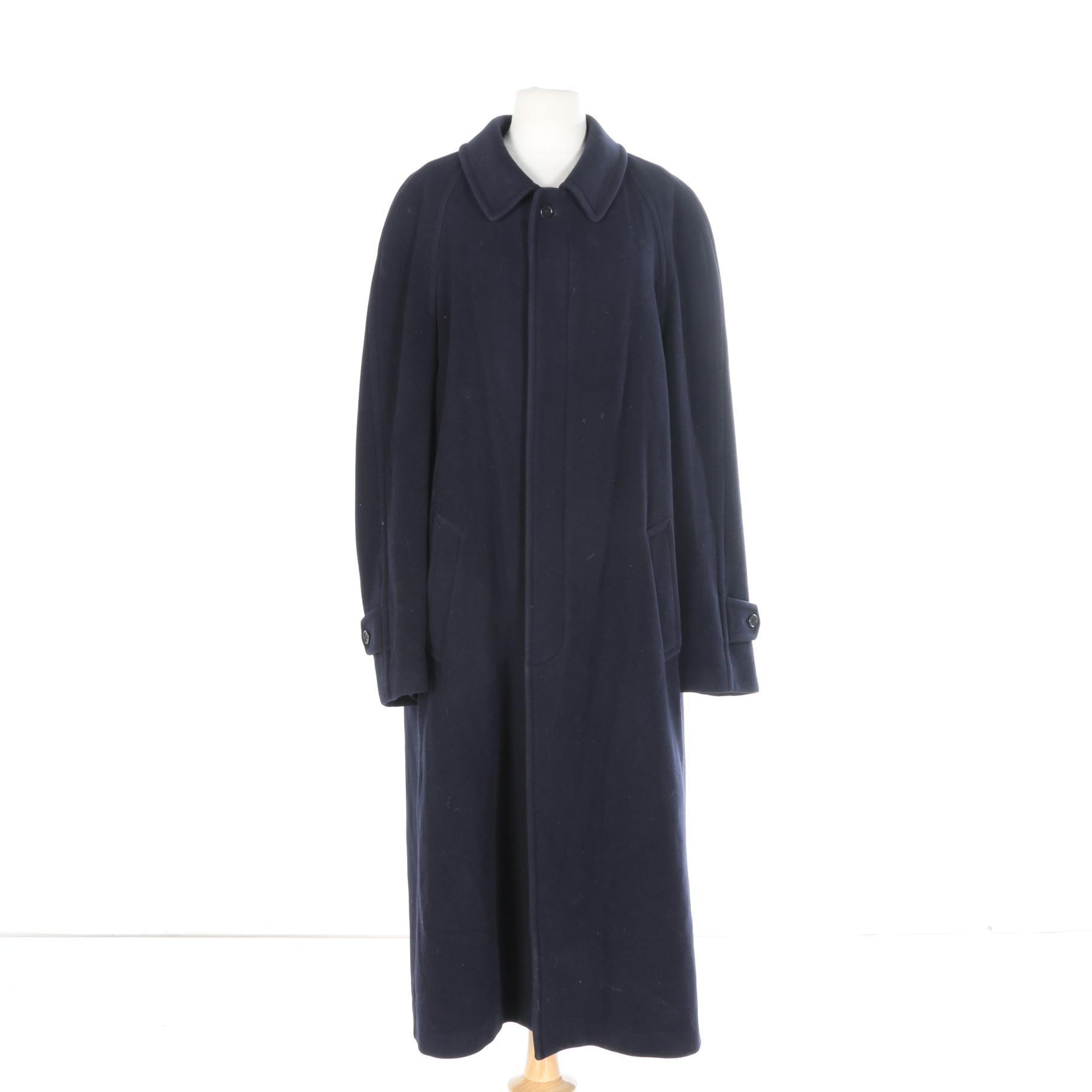 Brooks Brothers Navy Wool Coat