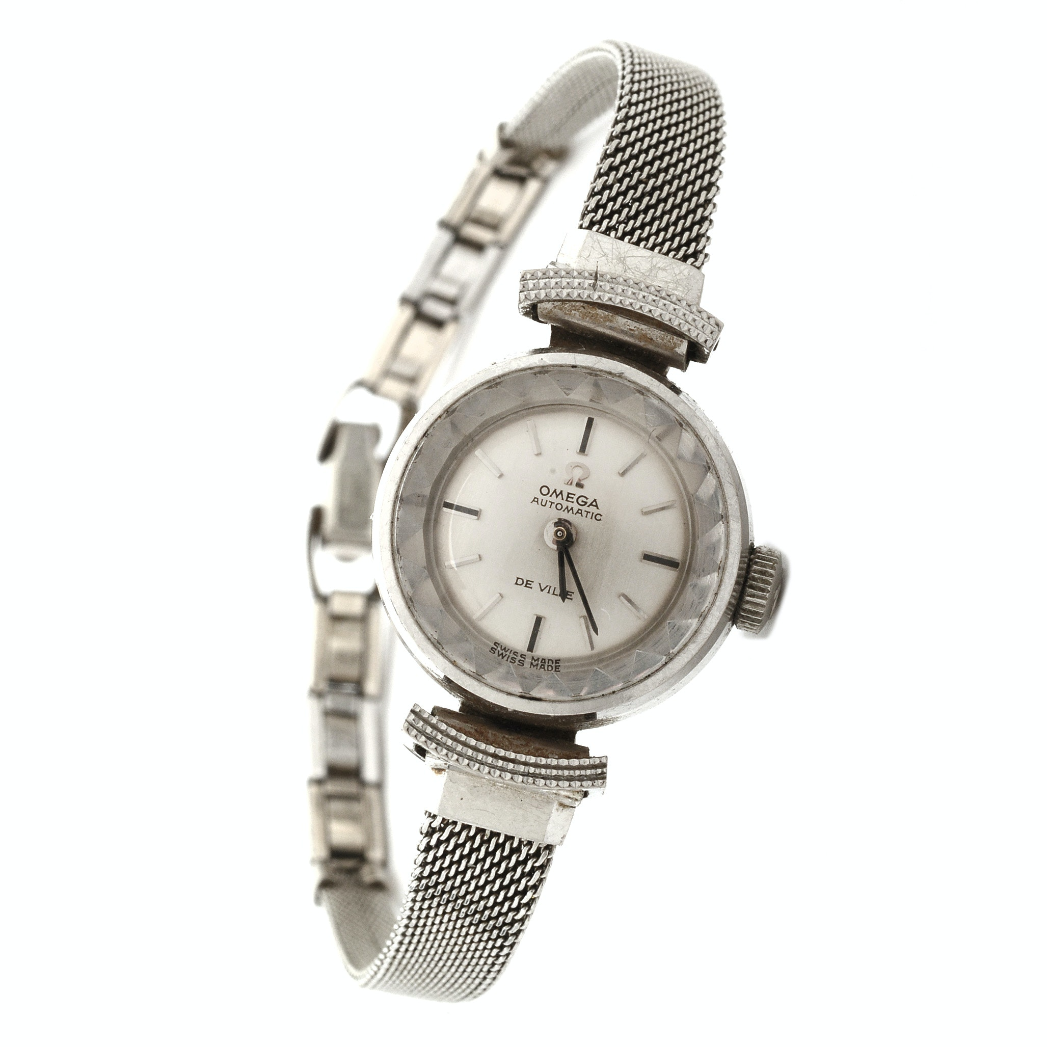 Omega Automatic De Ville Wristwatch with 18K White Gold Case