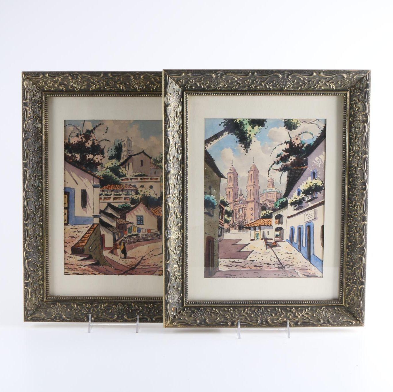 Watercolor Paintings of European Scenes