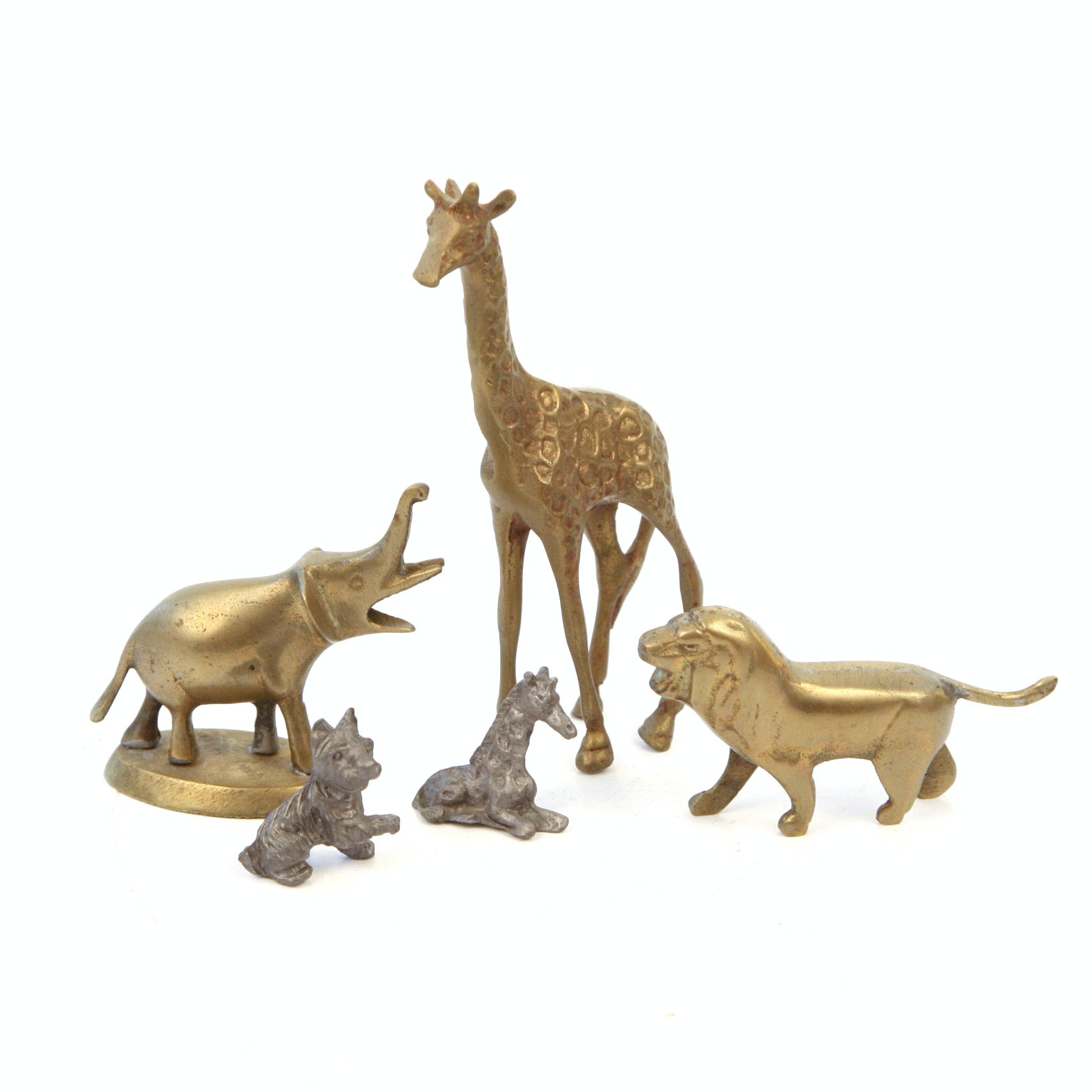 Collection of Cast Animal Figurines