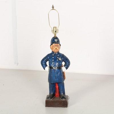 Policeman Figural Table Lamp