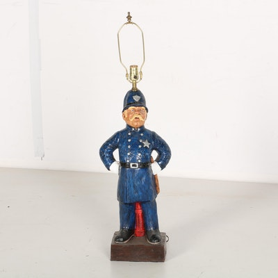 Policeman Figural Table Lamp