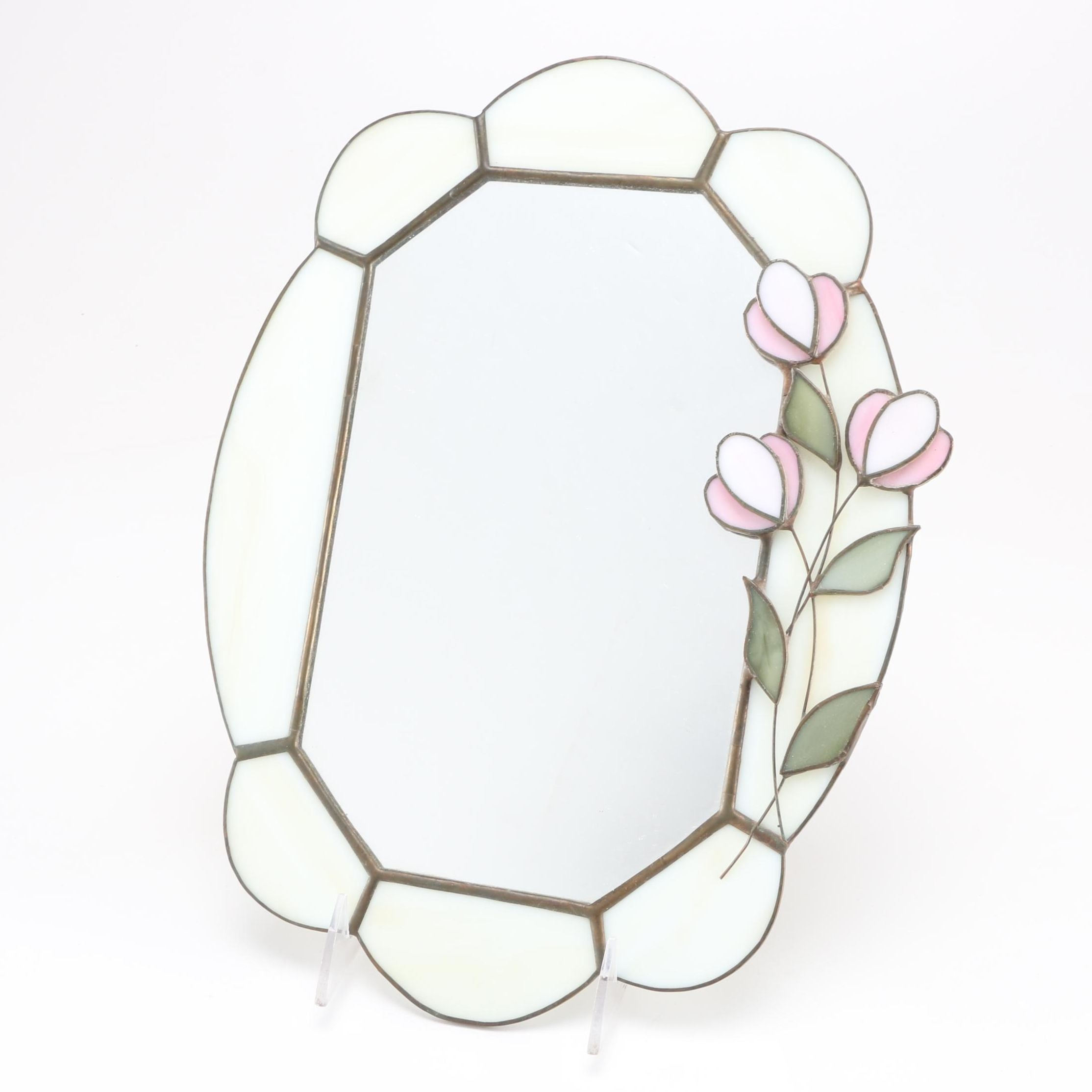 Stained Glass Floral Wall Mirror