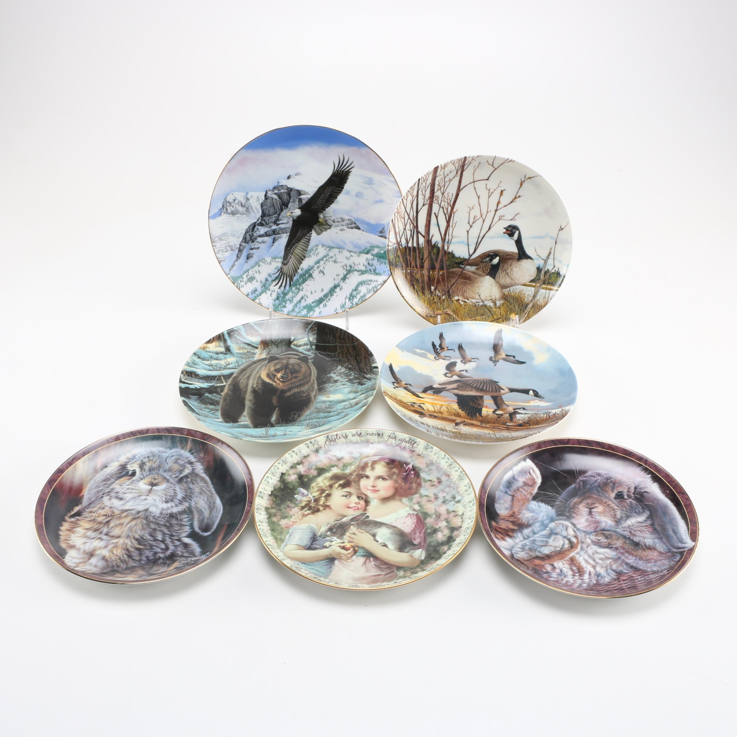 Limited Edition Plates Depicting Animals and Children 1986-1998