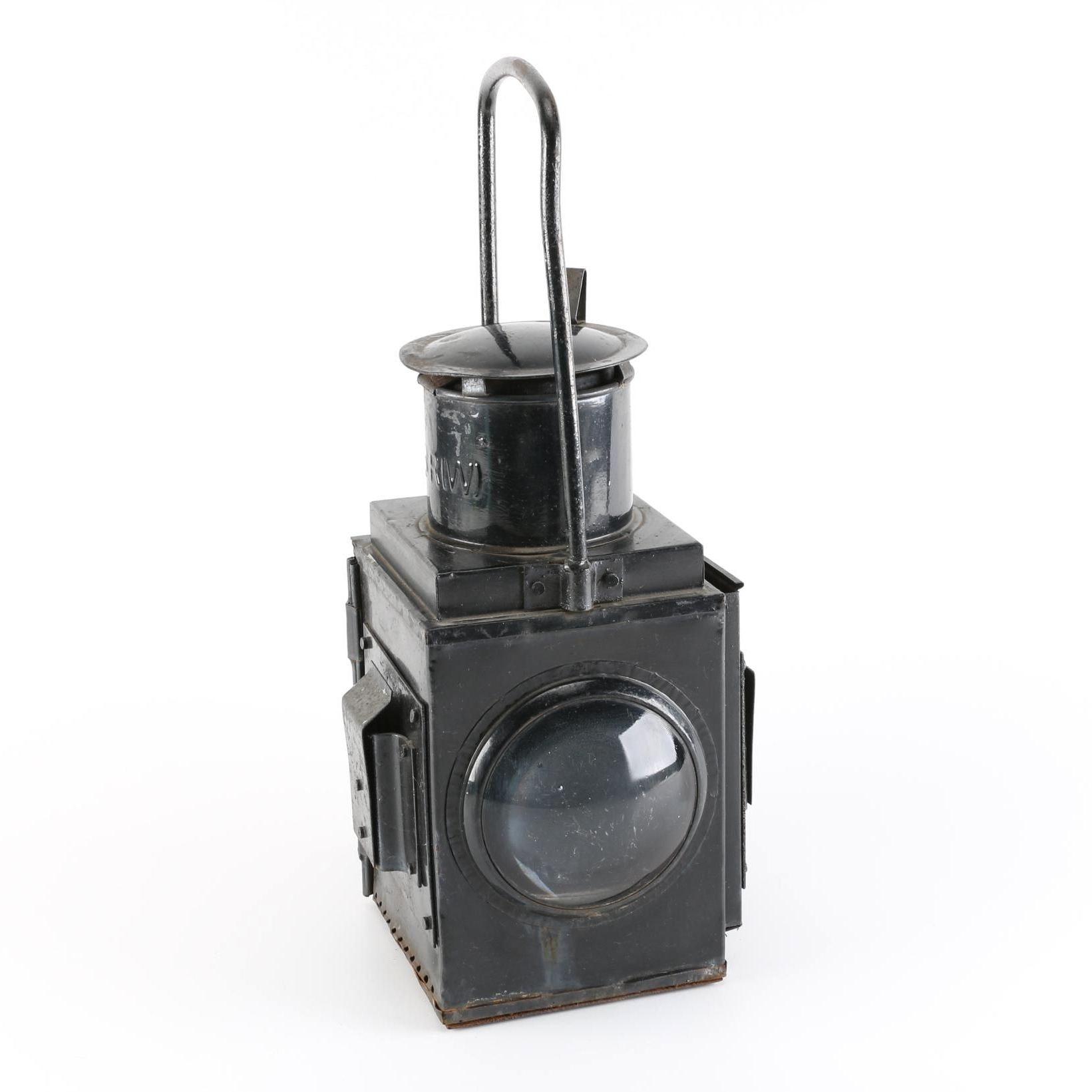 Vintage British Railway Lantern