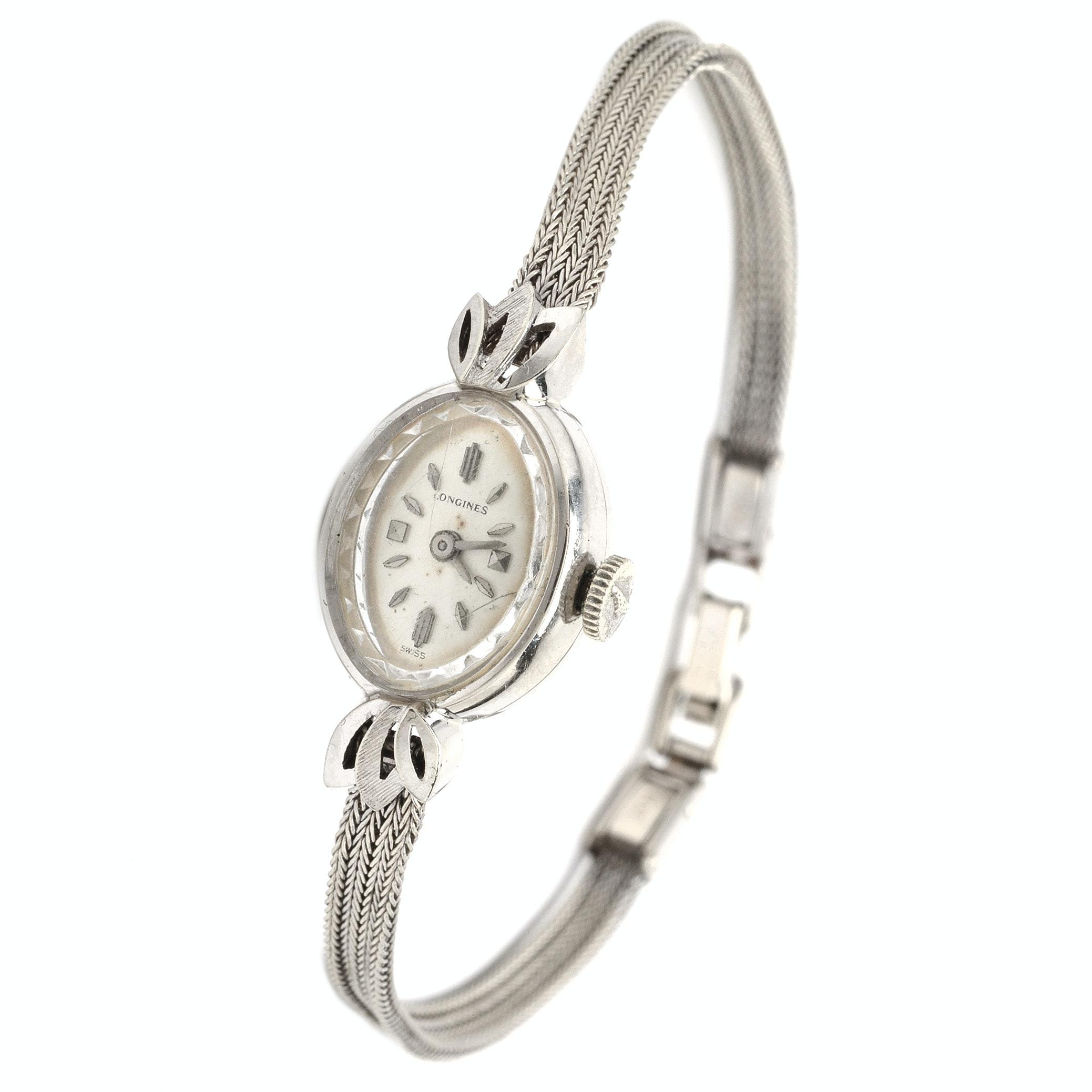 Longines 14K White Gold Wristwatch