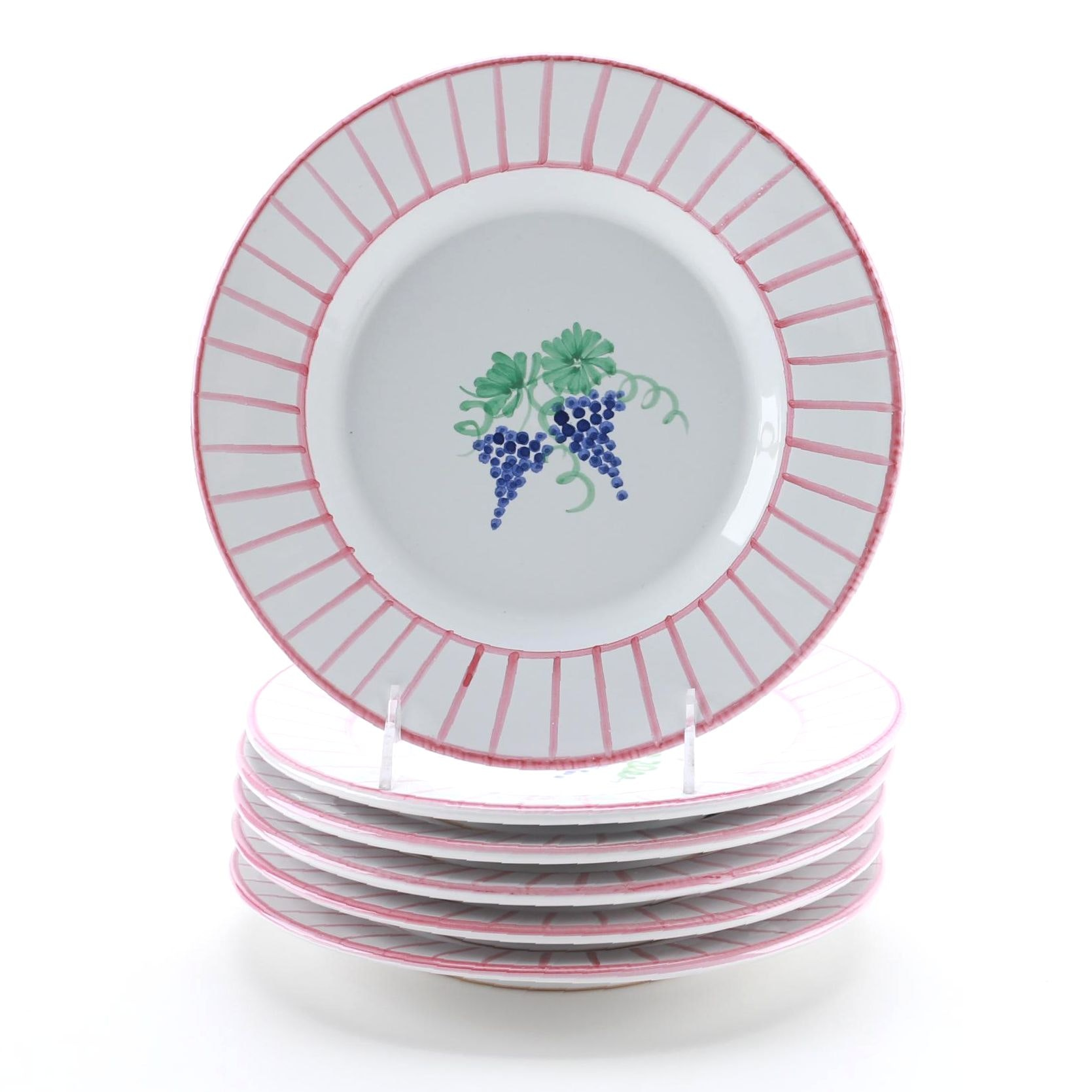 Collection of Grape Pattern Plates From Italy ...  sc 1 st  EBTH.com & Collection of Grape Pattern Plates From Italy : EBTH