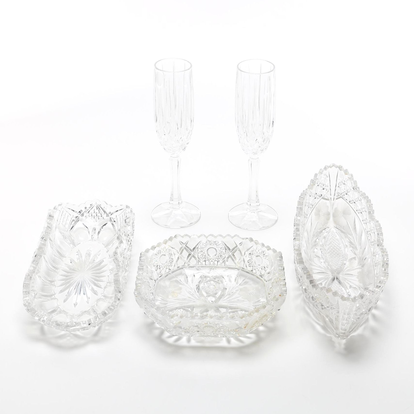 Assortment of Cut Glass Decor
