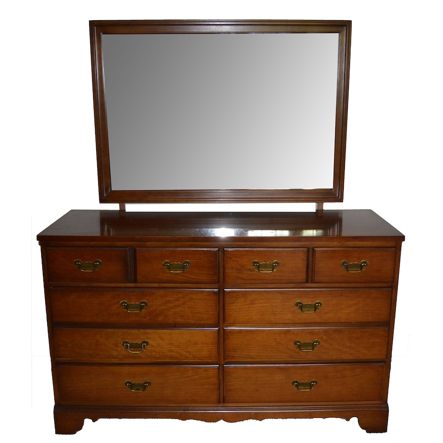 Bedroom Dresser with Mirror by Dixie Furniture : EBTH