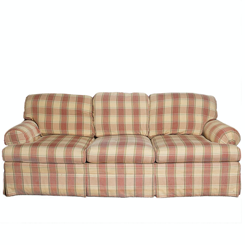Lovely Ethan Allen Plaid Sofa ...