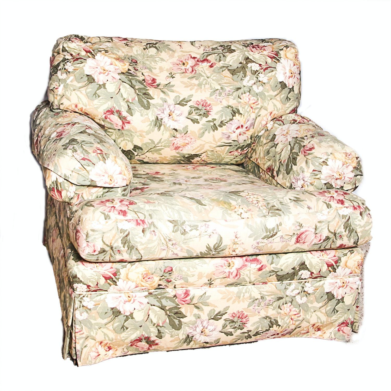 Merveilleux Ethan Allen Floral Armchair ...