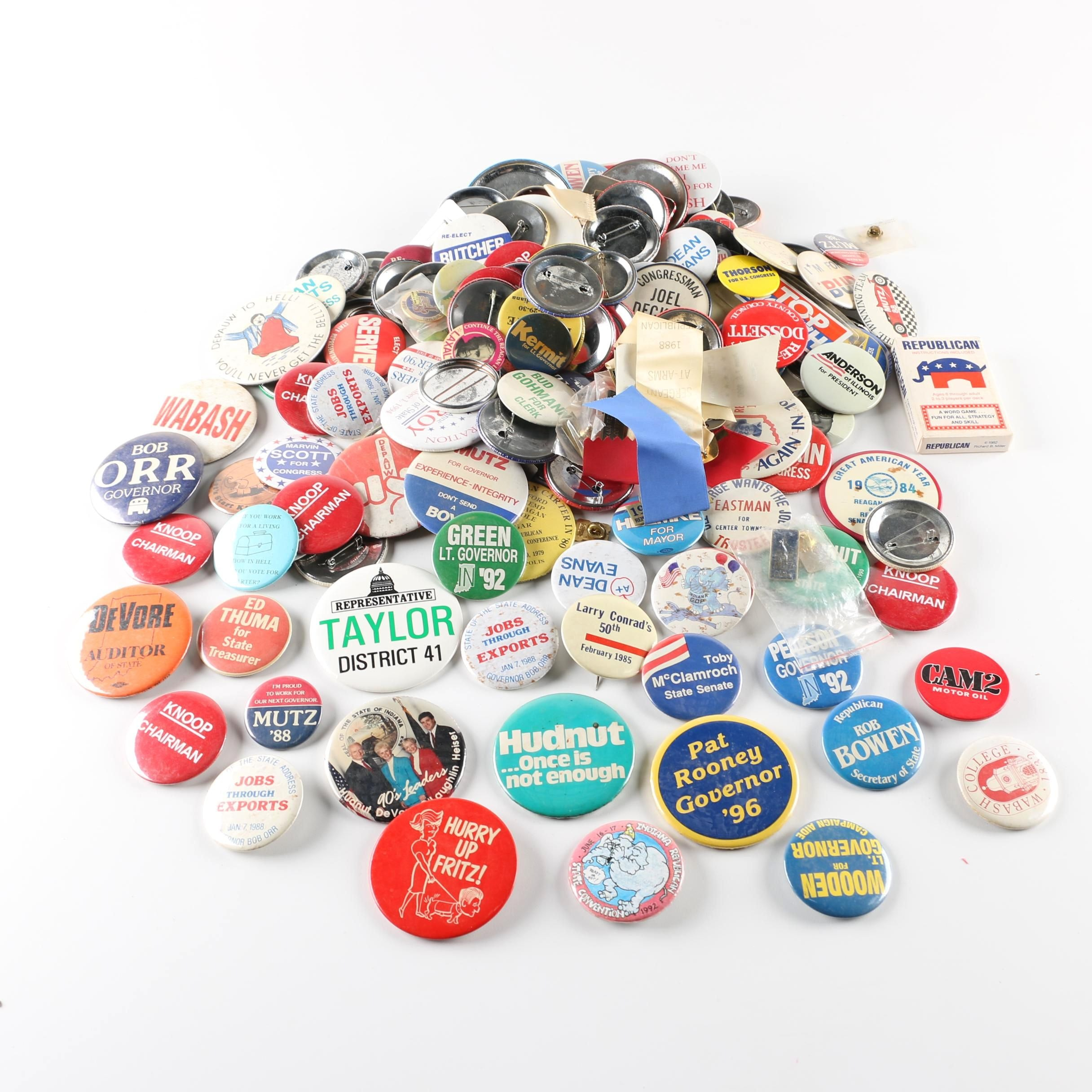 Assortment of Campaign and Other Buttons
