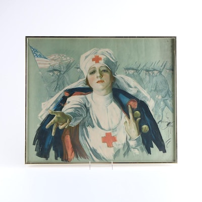 After Harrison Fisher Red Cross Poster