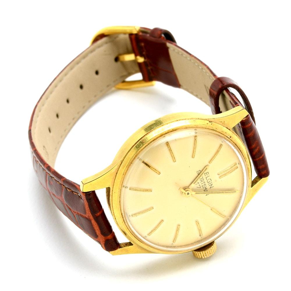 1960s Elgin Sportsman French Movement Wristwatch