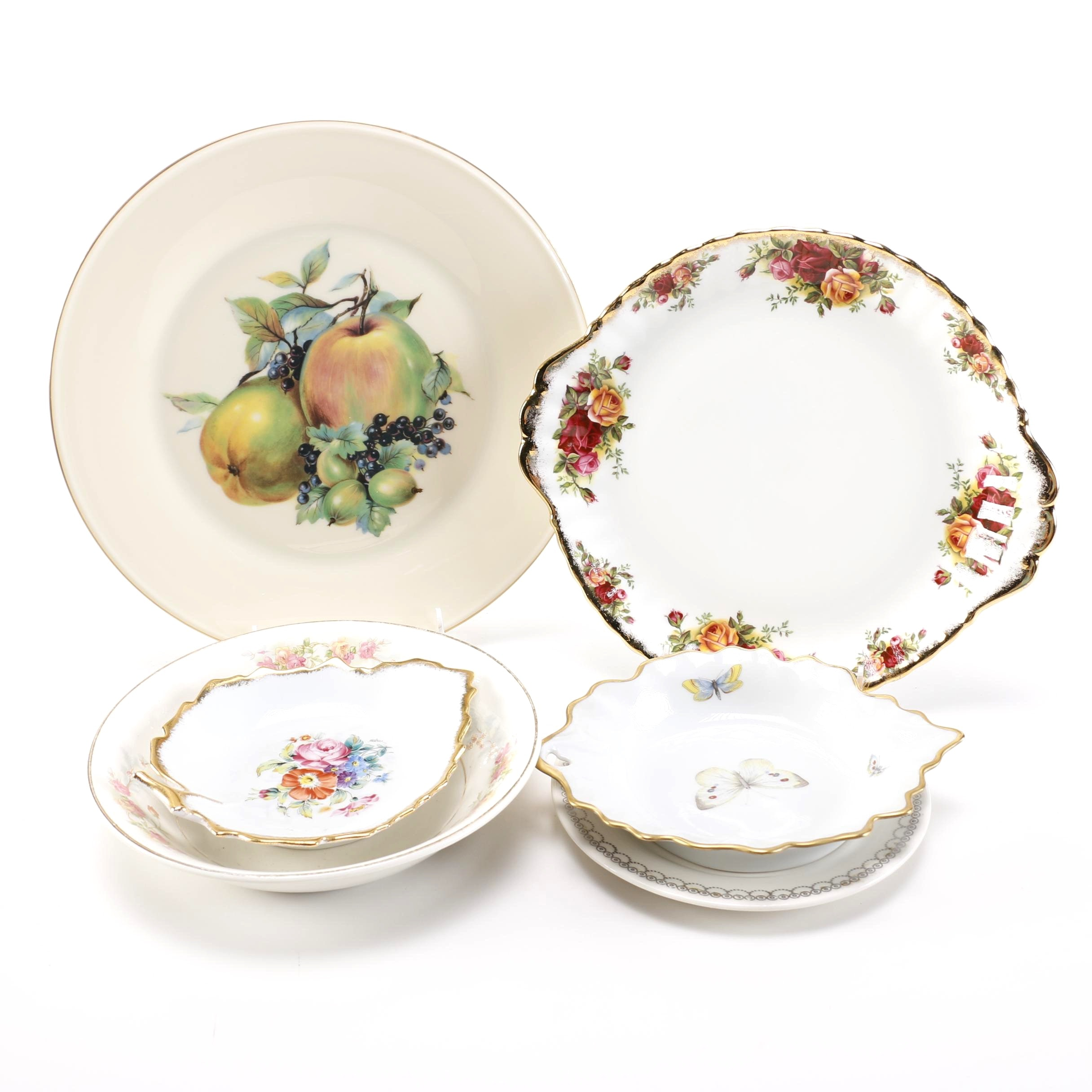 Contemporary China Plates featuring Lenox and Limoges