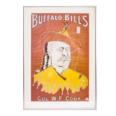 "Reproduction Alick P. F. Ritchie Poster, ""Buffalo Bill's Wild West"""