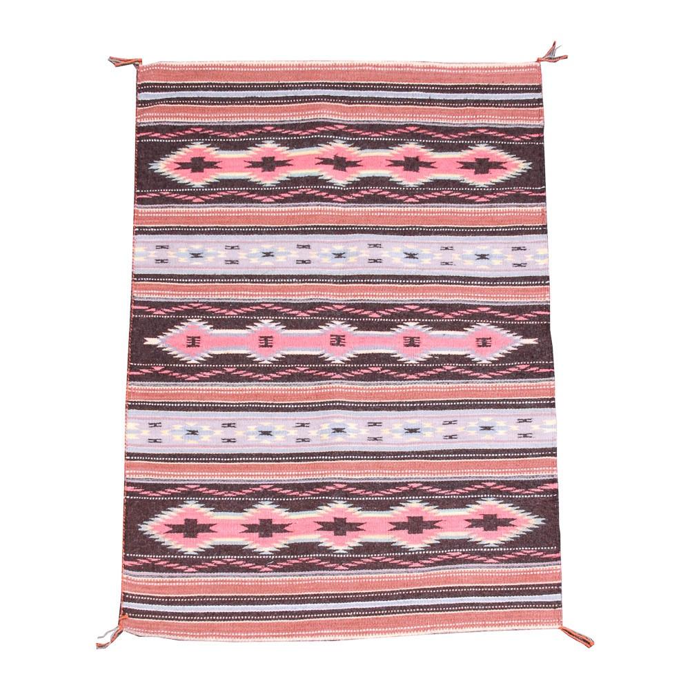 Handwoven Navajo Quot Crystal Quot Pattern Rug Ebth